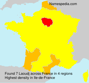 Surname Laoudj in France