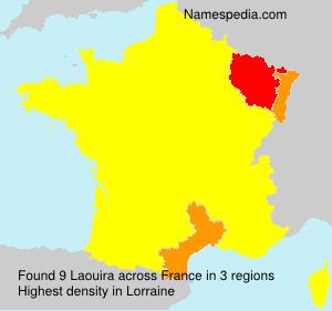 Familiennamen Laouira - France