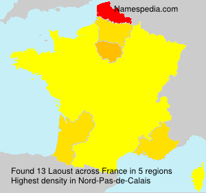 Surname Laoust in France