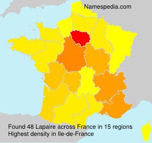 Familiennamen Lapaire - France