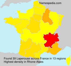 Surname Laperouse in France