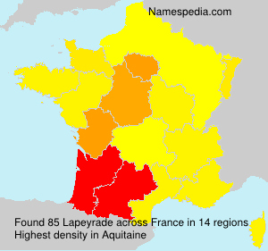 Surname Lapeyrade in France
