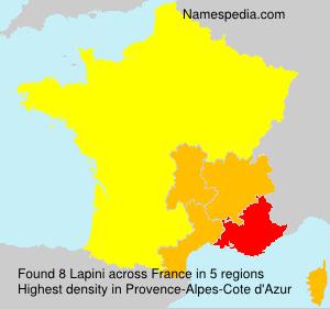 Surname Lapini in France