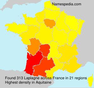 Surname Laplagne in France