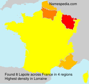 Surname Lapole in France