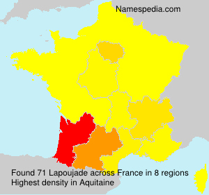 Surname Lapoujade in France