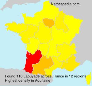 Surname Lapuyade in France