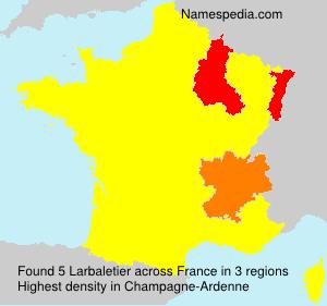 Familiennamen Larbaletier - France