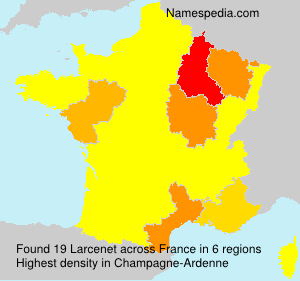 Surname Larcenet in France