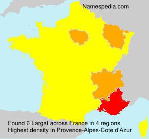 Surname Largat in France