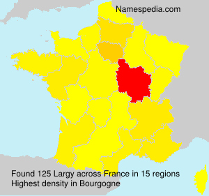 Surname Largy in France