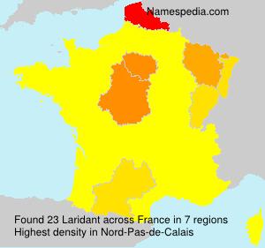 Familiennamen Laridant - France
