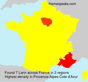 Familiennamen Larin - France