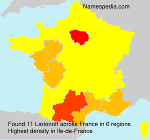 Surname Larionoff in France
