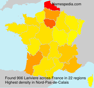 Surname Lariviere in France