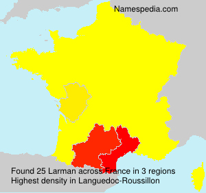 Surname Larman in France