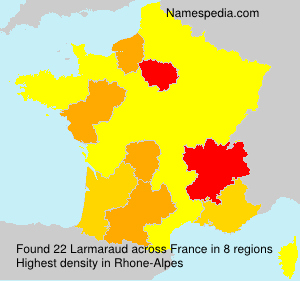 Surname Larmaraud in France