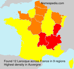 Familiennamen Larocque - France