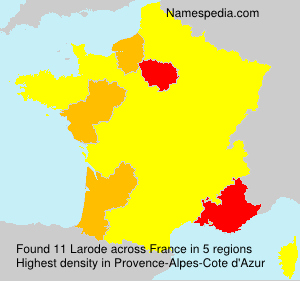 Surname Larode in France