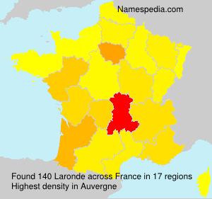 Surname Laronde in France
