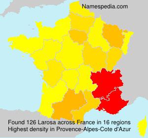 Familiennamen Larosa - France