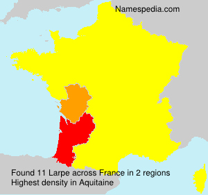 Surname Larpe in France