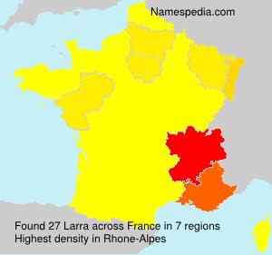 Familiennamen Larra - France