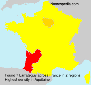 Surname Larrateguy in France