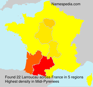 Surname Larroucau in France