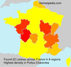 Familiennamen Larteau - France