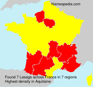 Surname Lasage in France