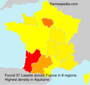 Surname Lasarte in France