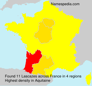 Surname Lascazes in France