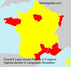 Surname Laser in France