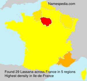 Familiennamen Lassana - France