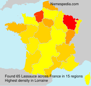 Surname Lassauce in France