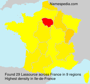 Surname Lassource in France