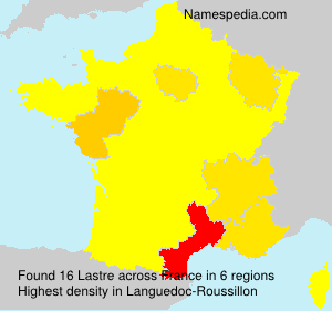 Familiennamen Lastre - France