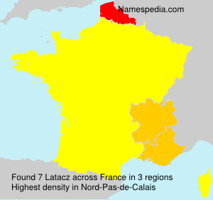 Familiennamen Latacz - France