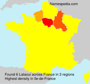 Surname Lataoui in France