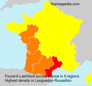 Surname Latchford in France