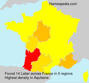 Surname Latier in France