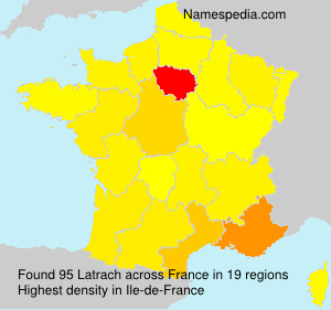 Surname Latrach in France