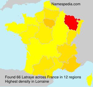 Surname Latraye in France