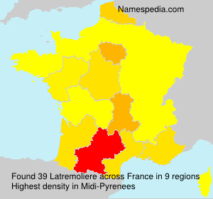 Surname Latremoliere in France