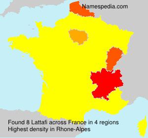 Surname Lattafi in France