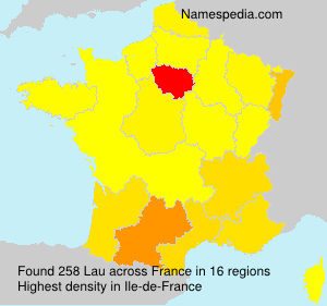 Surname Lau in France
