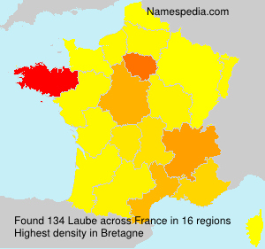 Surname Laube in France