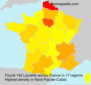 Surname Laurette in France