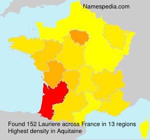 Surname Lauriere in France